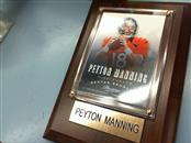 NFL Sports Memorabilia PEYTON MANNING PLAQUE